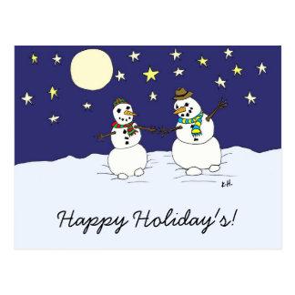 Snow Love Postcard