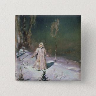 Snow Maiden, 1899 Pinback Button