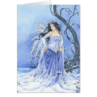 Snow Maiden Christmas or Yule card