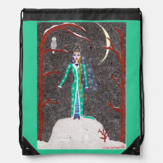 Snow Maiden Drawstring Backpack