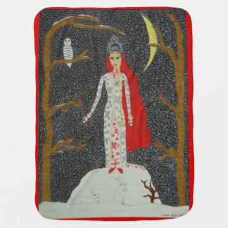 Snow Maiden (Red Version) Baby Blanket