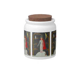 Snow Maiden (Red Version) Candy Jar