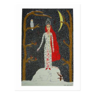 Snow Maiden (Red Version) Postcard