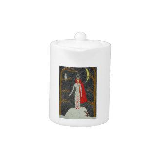 Snow Maiden (Red Version) Teapot