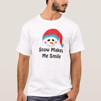 Snow Makes Me Smile T-Shirt