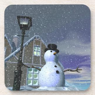 Snow Man 2 Cork Coaster