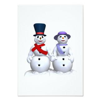 Snow Man And Snow Woman Card