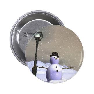 Snow Man Button