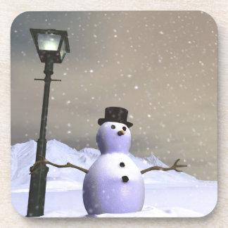 Snow Man Cork Coaster