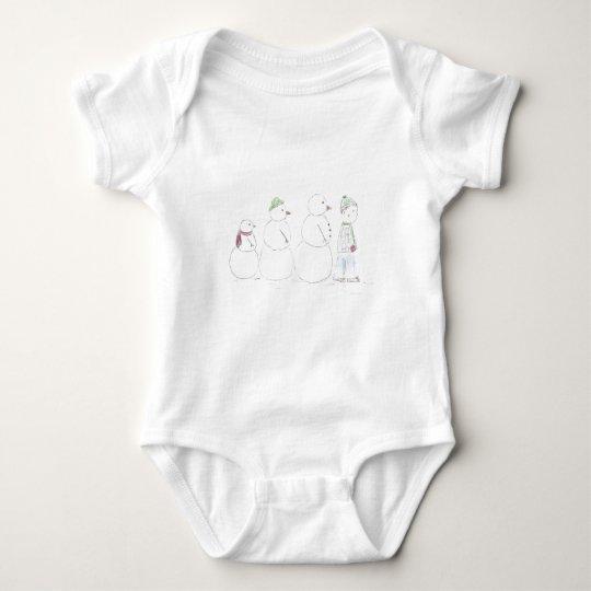 Snow_man_entourage Baby Bodysuit