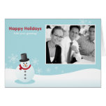 Snow Man Holiday Template Cards