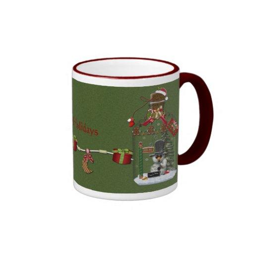 Snow Man Jar Holiday Mug