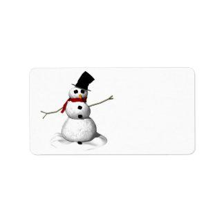Snow Man Label