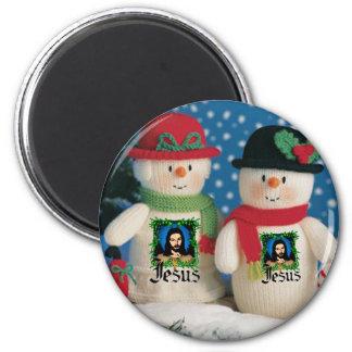snow man magnet
