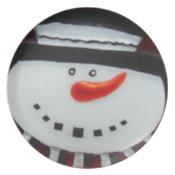 Snow man plate plate
