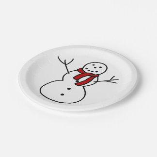 Snow Man Plates
