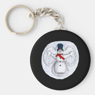 Snow Man Snow Angel Keychain