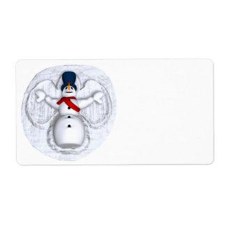 Snow Man Snow Angel Label