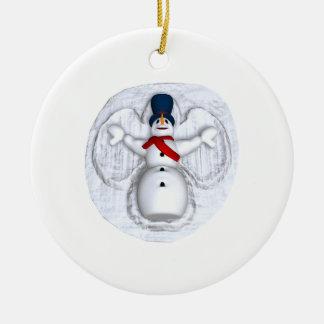 Snow Man Snow Angel Ornaments