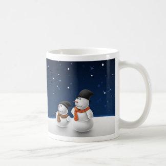 Snow Man Snow Child Coffee Mug