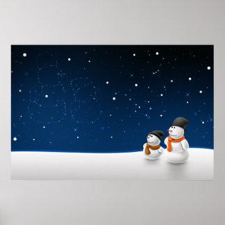 Snow Man Snow Child Poster