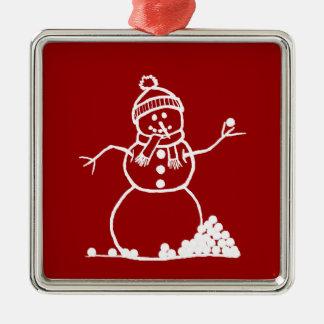 Snow Man Snow Fight Ornament