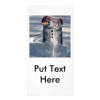 Snow Man &  Snow Woman Card