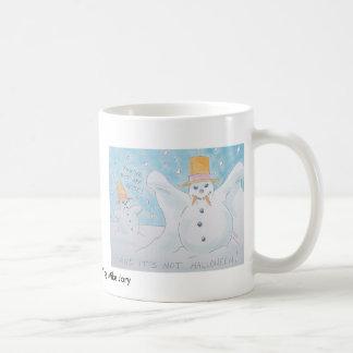 Snow man vampire coffee mug