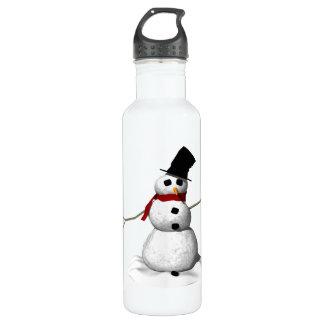 Snow Man Water Bottle