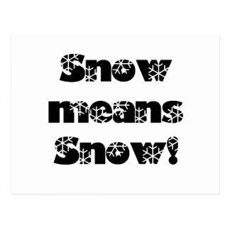 Snow means SNOW! Postcard