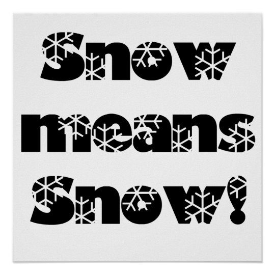 Snow means SNOW! Poster