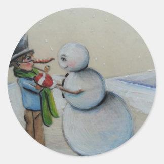 Snow Meany Classic Round Sticker