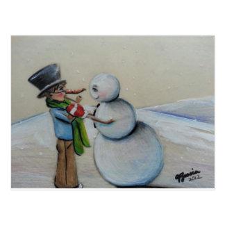 Snow Meany Postcard