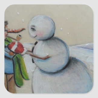Snow Meany Square Sticker