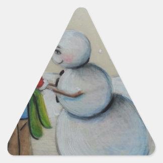 Snow Meany Triangle Sticker