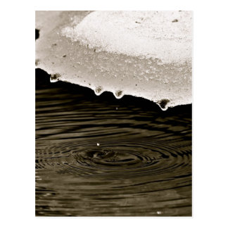 SNOW MELTING, ONE WATER DROP AT THE TIME POSTCARD
