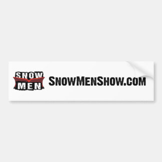 Snow Men Bumper Sticker
