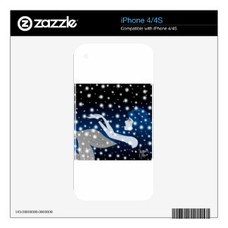 Snow Mermaid Decals For iPhone 4S