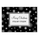 Snow Merry Christmas Cousin Card