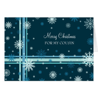 Snow Merry Christmas Cousin Greeting Card