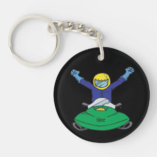 Snow Mobile Champ Keychain