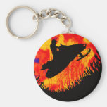 SNOW MOBILE POWDER KEYCHAIN