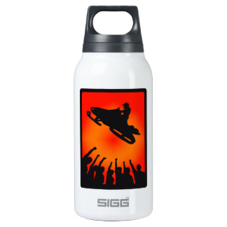 SNOW MOBILE RAISED INSULATED WATER BOTTLE