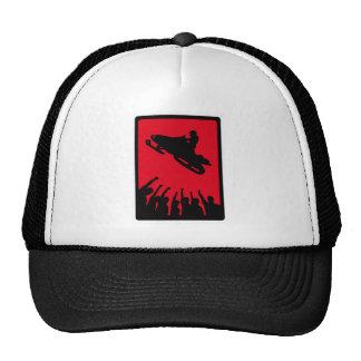SNOW MOBILE REDD TRUCKER HAT