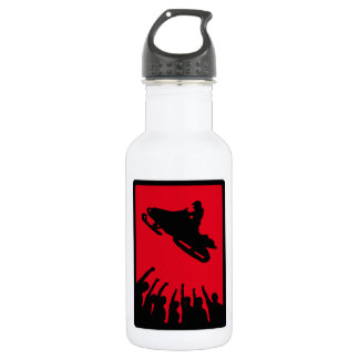 SNOW MOBILE REDD STAINLESS STEEL WATER BOTTLE