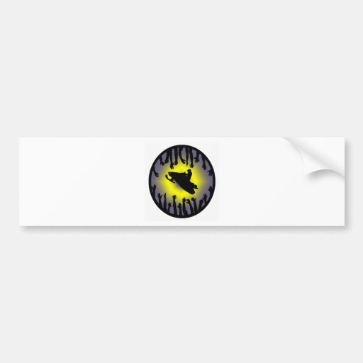 SNOW MOBILE SOUNDER BUMPER STICKERS