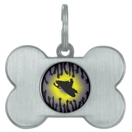 SNOW MOBILE SOUNDER PET ID TAG