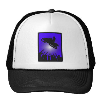 SNOW MOBILE TAKES TRUCKER HAT