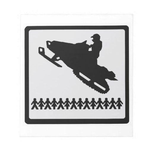 SNOW MOBILE TRADITION NOTEPAD