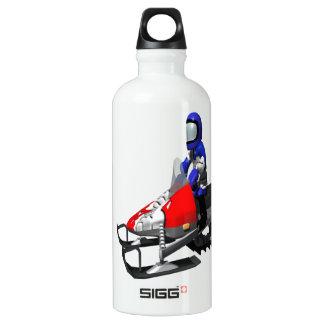 Snow Mobiling Aluminum Water Bottle